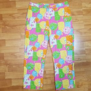 Lilly Pulitzer White Tage Size 8 High Rise Capri